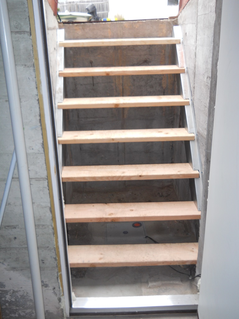 Replacement Stairs for Hatchway area & Basement Doors - Basement Entry | Budget Dry