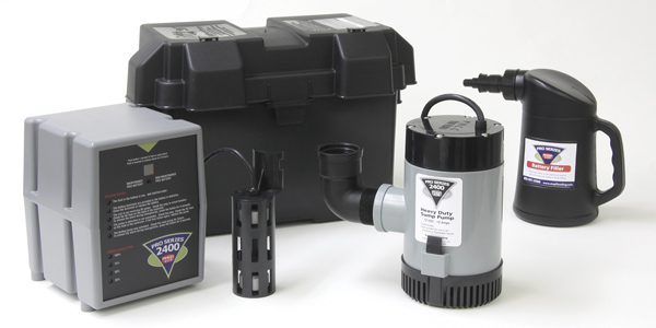 example photo of sump pump system