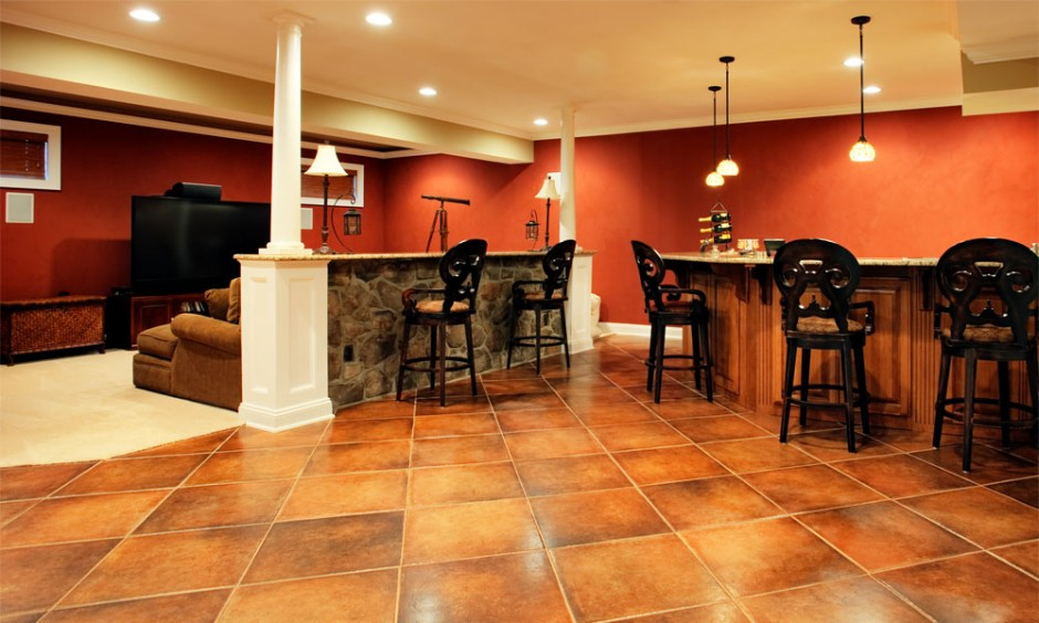 Successful basement remodeling on a budget for Best carpet for basement family room