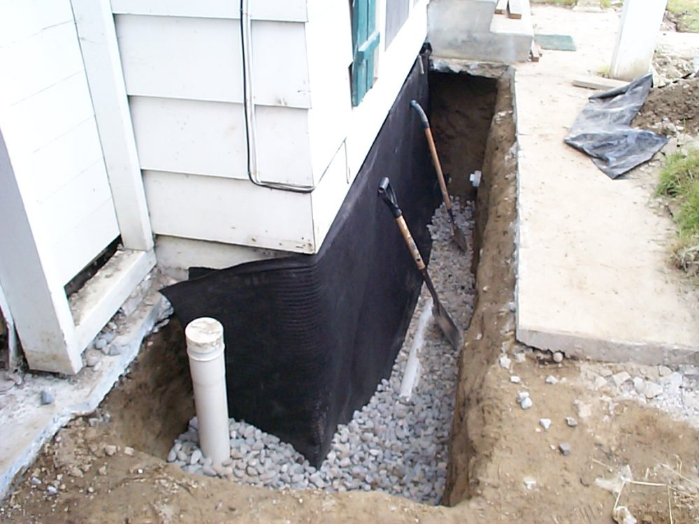 4 types of exterior drainage systems for your home for Drainage system