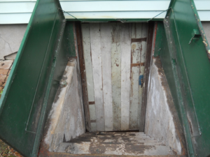 Leaky basement bulkhead
